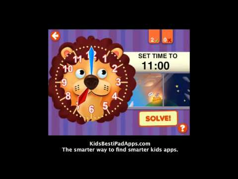 iPad Apps for Kids: Interactive Telling Time Lite