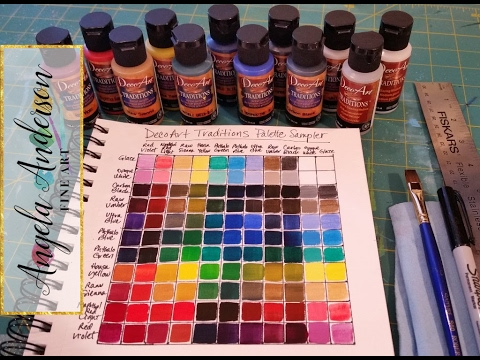 'Creating a Color Mixing Guide Chart | Acrylic Painting Tutorial' on ViewPure