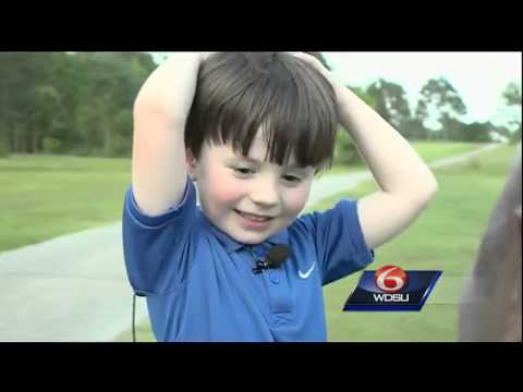 'Young golfer lighting up the links in Abita Springs' on ViewPure