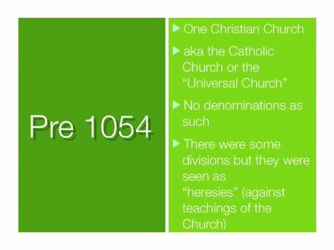 The Basics of Christianity-Denominations