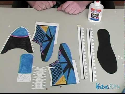 'How to make a paper shoe' on ViewPure