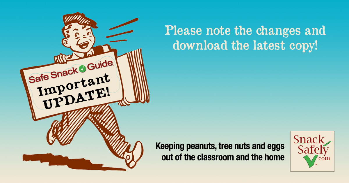 Update to Safe Snack Guide: May 10, 2016