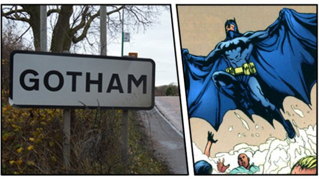 The real Gotham: The village behind the Batman stories - BBC News