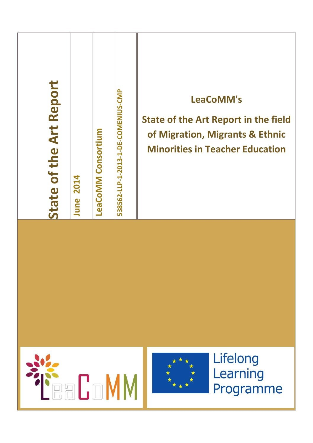 LeaCoMM's  State of the Art Report in the field of Migration, Migrants & Ethnic Minorities in Teache