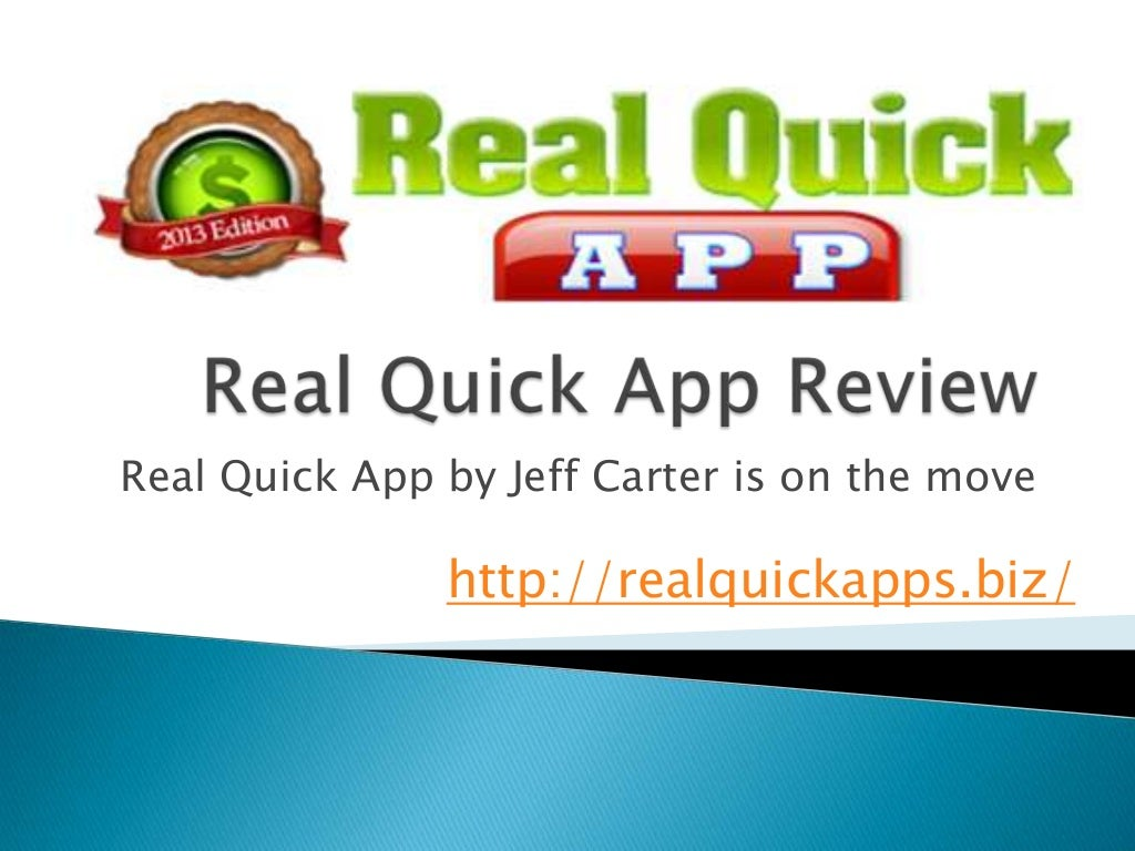 Real Quick App Review
