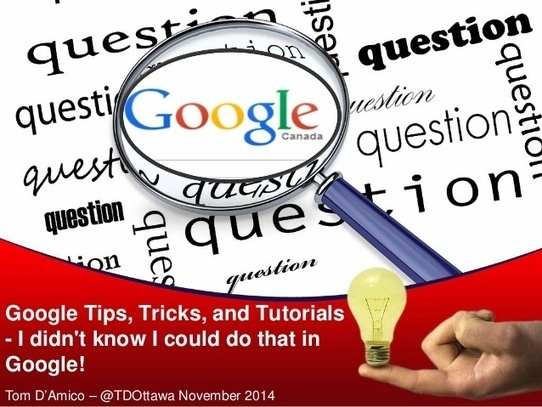 "Google Tips and Tricks - ""I didn't know I could..."
