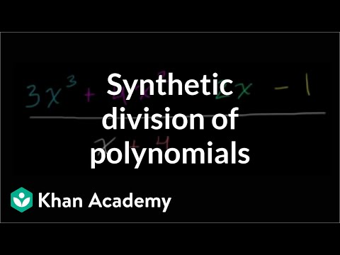 Introduction to synthetic division of polynomials