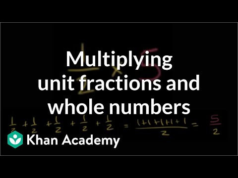 Multiplying unit fractions and whole numbers
