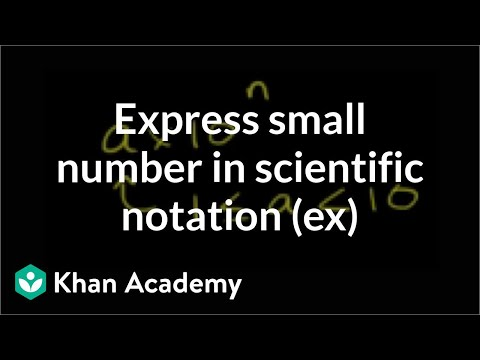 Scientific notation example: 0.0000000003457