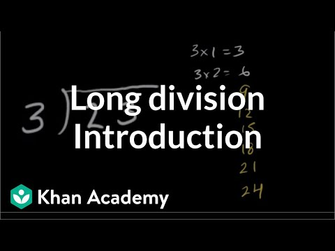 Introduction to long division