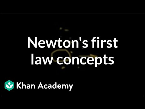 Newton's first law of motion concepts