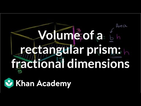 Volume of a rectangular prism: fractional dimensions