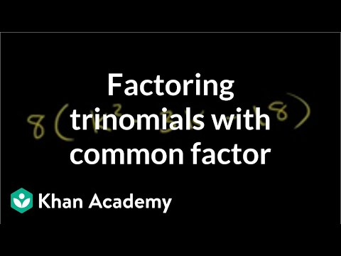 Example 1: Factoring trinomials with a common factor