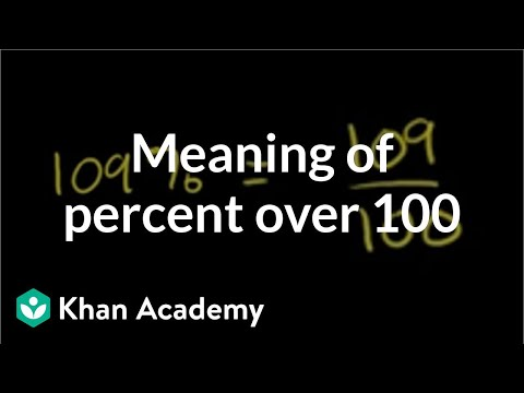 The meaning of percent over 100