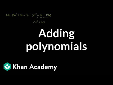 Example 4: Adding and subtracting polynomials