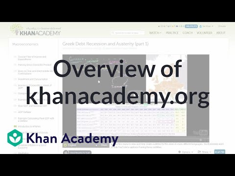 Overview of KhanAcademy.org