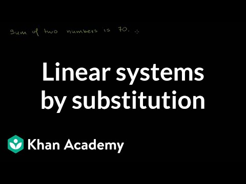 Solving linear systems by substitution