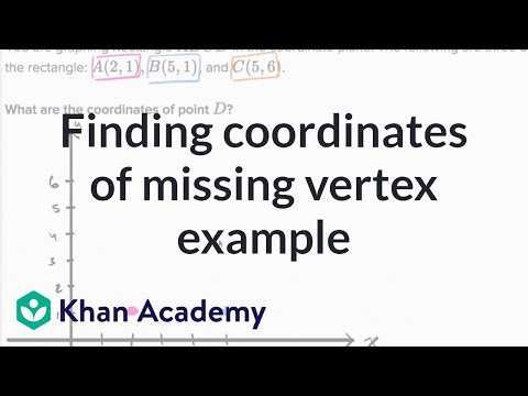 Coordinates of a missing vertex