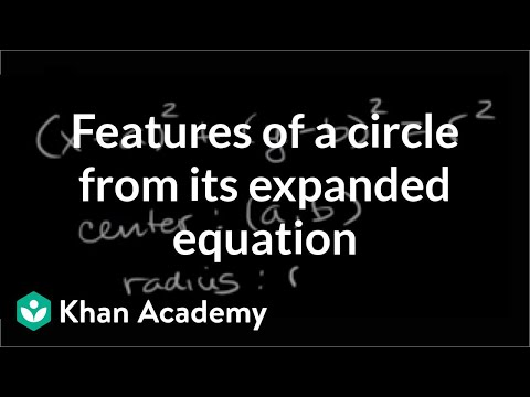 Completing the square to write equation in standard form of a circle