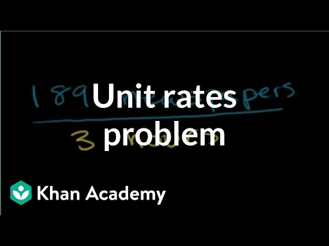 Solving unit rates problem