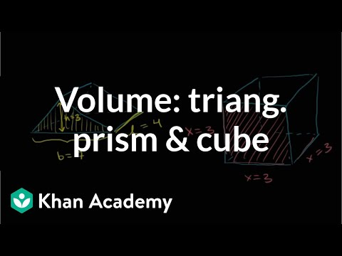 Find the volume of a triangular prism and cube