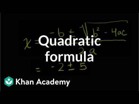 Intro to the quadratic formula