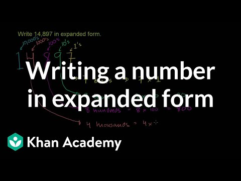 Writing a number in expanded form