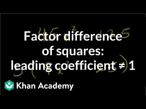 Factoring difference of squares: leading coefficient ≠ 1