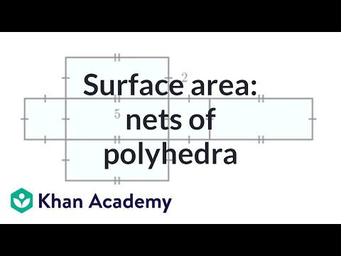 Finding surface area: nets of polyhedra