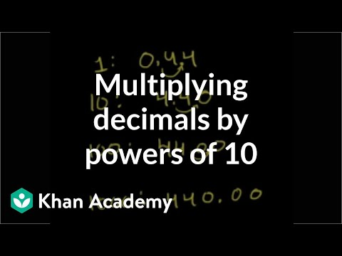 Multiplying a decimal by a power of 10