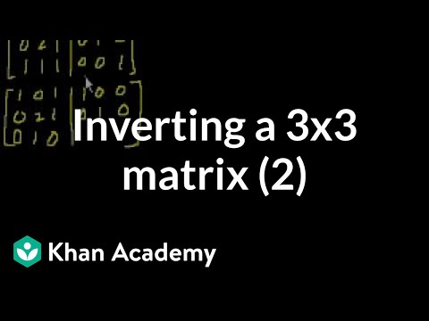 Classic video on inverting a 3x3 matrix part 2