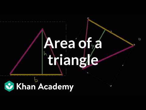 Area of triangles intuition