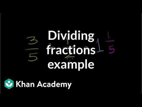 Dividing fractions example 2
