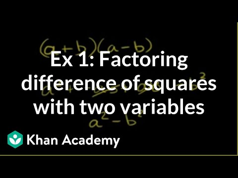 Example 1: Factoring difference of squares