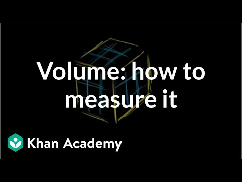 Volume: how to measure it