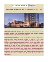 BRAHMA MIRACLE MILE A FUN FILLED LIFE