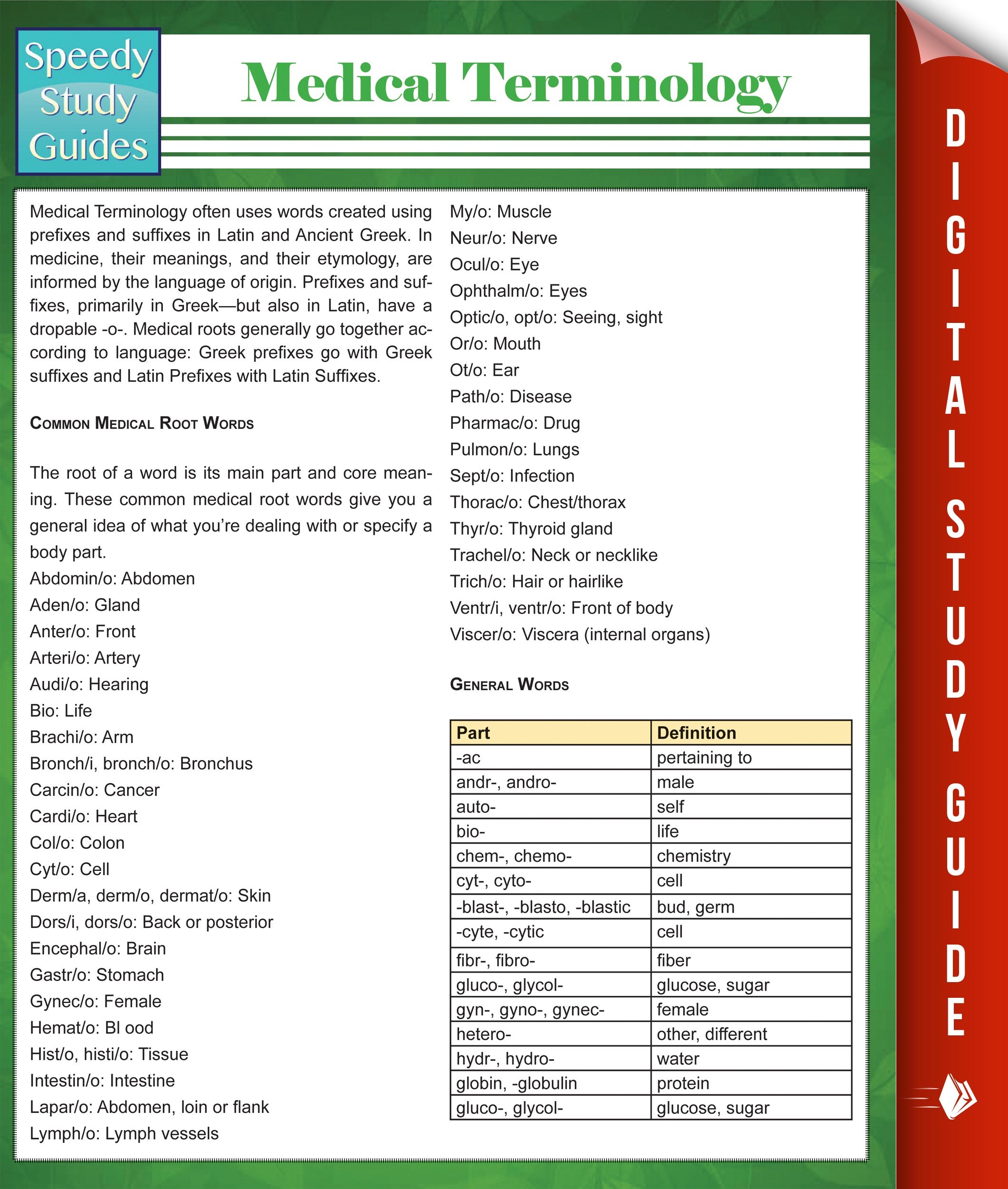 Medical Terminology (Speedy Study Guides) by Speedy Publishing on iBooks