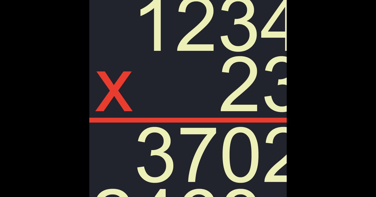Long Multiplication on the App Store