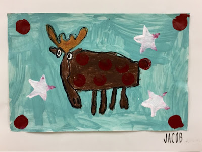 Kim & Karen: 2 Soul Sisters (Art Education Blog): Watch out Rudolph, The Moose is on the LOOSE!