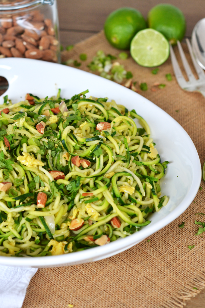 Zucchini Pad Thai {Whole30} - Little Bits of...