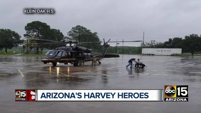 Arizona service members recall Hurricane Harvey and the lives they helped save