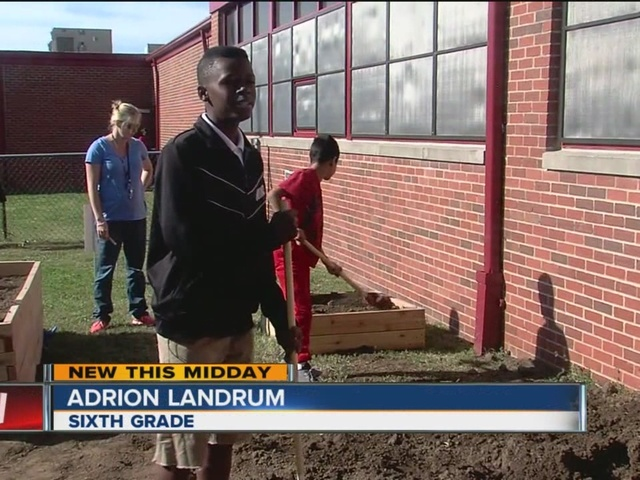 Penn Elementary School turns lawn space into community garden for students and families alike
