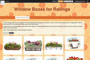 Window Boxes for Railings