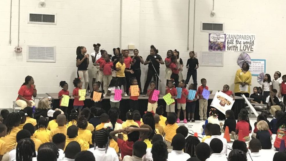 Macon school celebration for achieving The Leader in Me Lighthouse School status