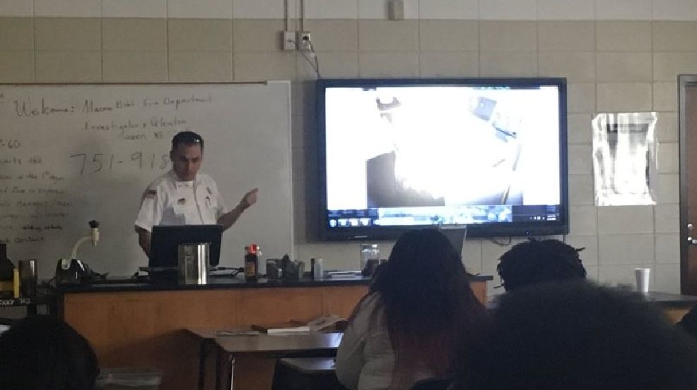 Macon-Bibb fire officials teach Bibb Co. forensic science students about arson