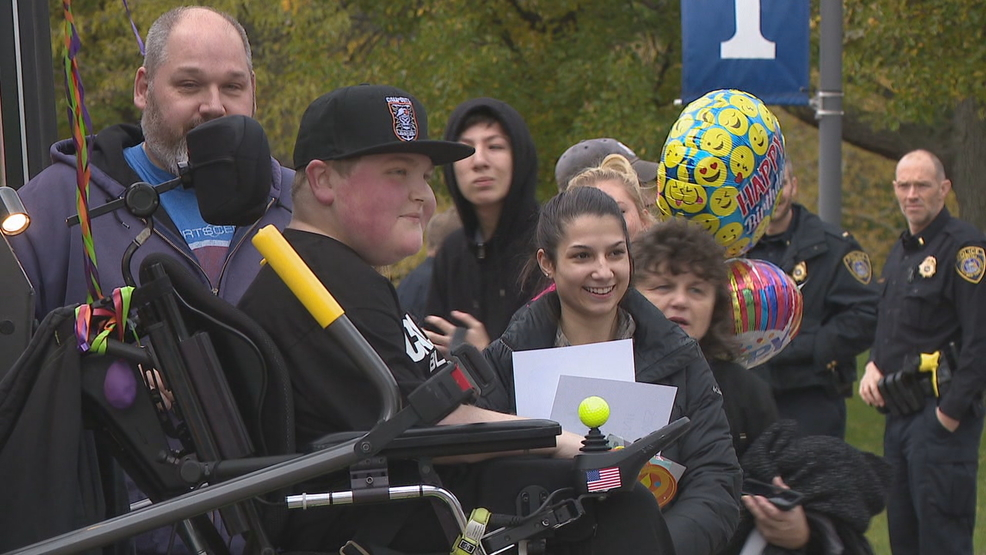 Webster boy gets birthday parade after viral post