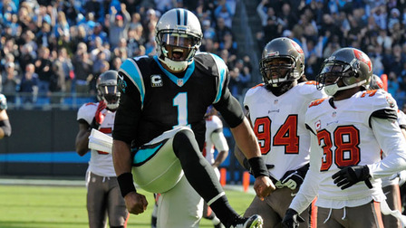 Carolina Panthers quarterback Cam Newton 56-yard run