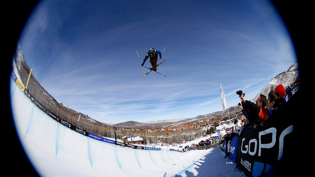 In Halfpipe and Slopestyle, Freeskiing Challenges Snowboarding