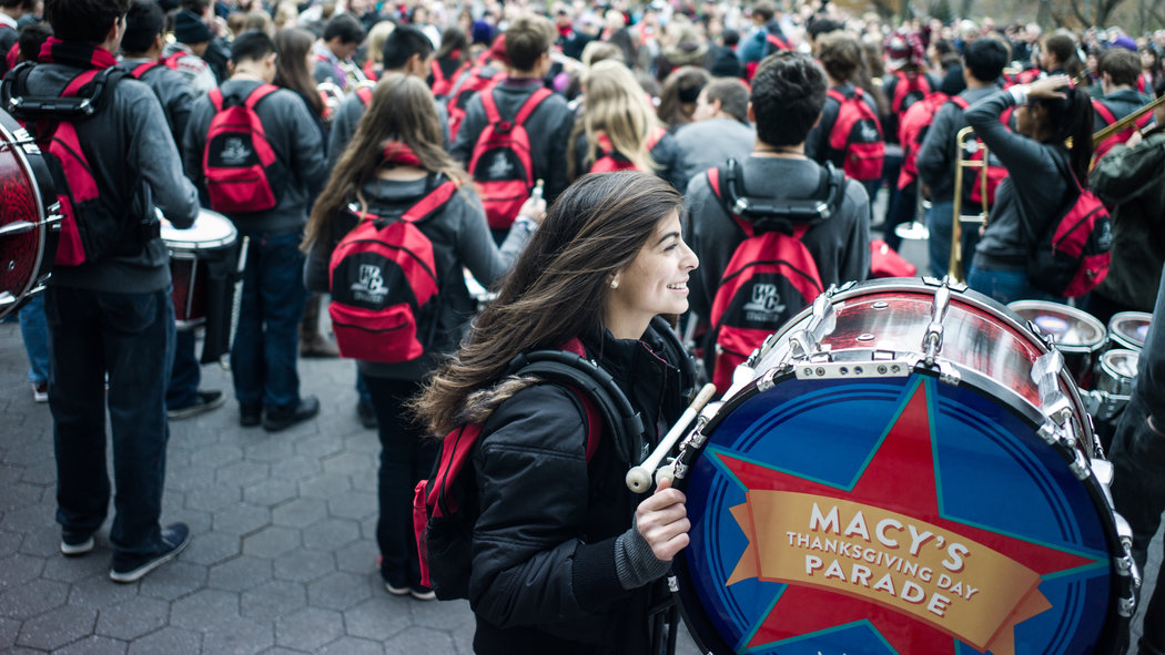 Macy's Thanksgiving Parade Brings Teenage Invasion to New York