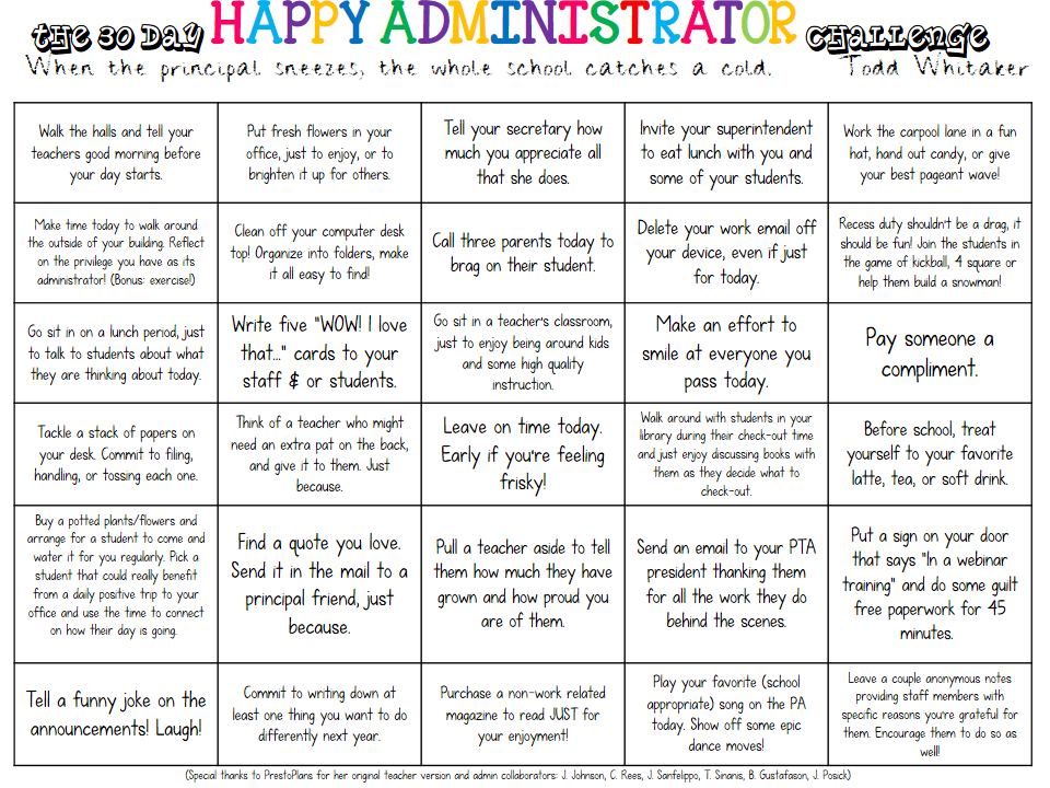 2016: The 30 day HAPPY ADMINISTRATOR challenge! #goals #thefirstyear